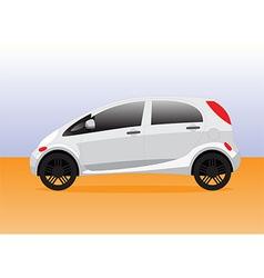 Small compact city car vector image