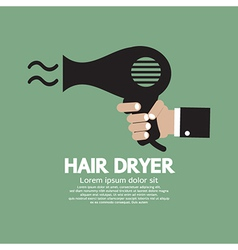 Hair Dryer vector image