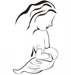 breastfeeding vector image