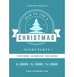 Christmas party invitation retro typography and vector