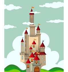 Castle with tall towers vector