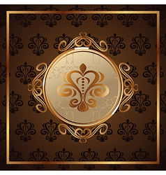 Gold invitation frame or packing - vector