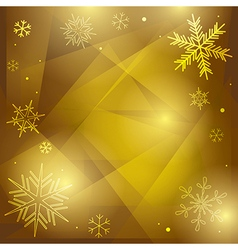 Olive christmas background with white snowflakes vector