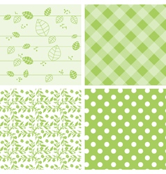 Set of green background vector image