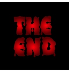 The end text vector