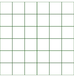 Dark Green Grid White Background vector image
