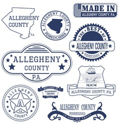 Allegheny county pennsylvania stamps and seals vector