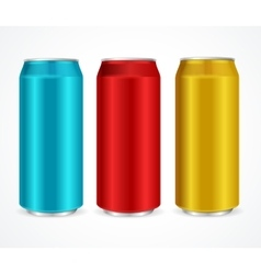 Aluminum Colorful Cans vector image vector image
