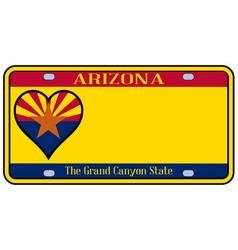 Arizona state license plate vector