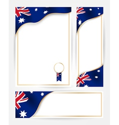 Australian flag banners set vector