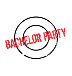 Bachelor party rubber stamp vector