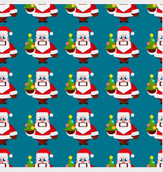 Christmas cartoon characters seamless pattern vector