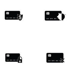 Credit cards icon set vector