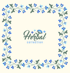 Floral round frame jacobean style flowers wreath vector