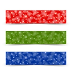 Glittering banners vector image