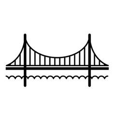 Golden gate bridge icon simple black style vector