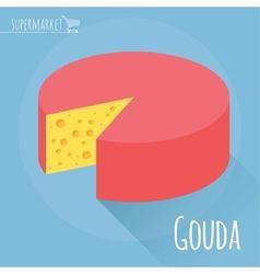 Gouda cheese icon vector image vector image