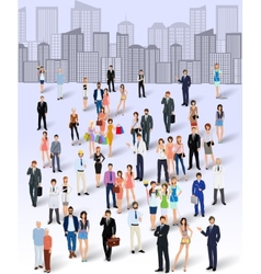 Group of people in the city vector image