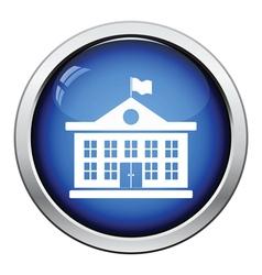 Icon of School building vector image vector image