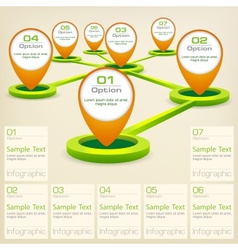 Infographic elements with vector image vector image