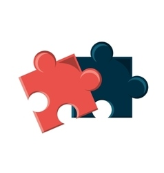 Isolated pieces of puzzle design vector