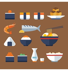 Japan food flat icon vector