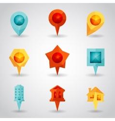 Landmark and Showplace Symbol Map Pointer Mark vector image vector image