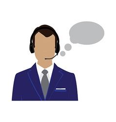 Male call center avatar vector