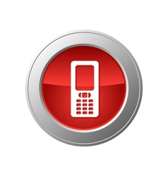 mobile phone button vector image vector image