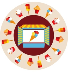 shop window of ice cream vector image vector image