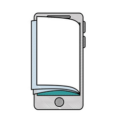 smartphone device with ebook vector image