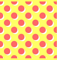 Tile pattern with pink polka dots and orange vector