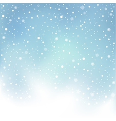 Winter day snow background vector