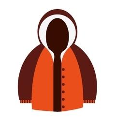 Winter jacket icon vector