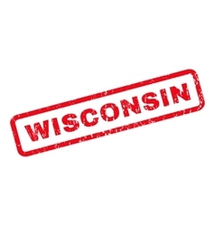 Wisconsin rubber stamp vector