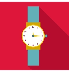 Wristwatch icon flat style vector