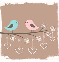 Couple of cute birds vector image