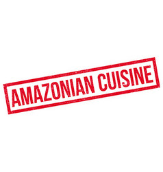 Amazonian cuisine rubber stamp vector