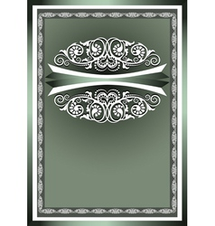 White frame ornaments vector