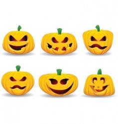 spooky pumpkins vector image
