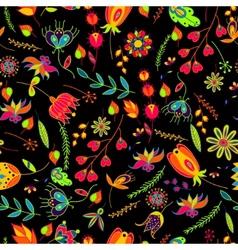 seamless pattern flowersfloral pattern vector image