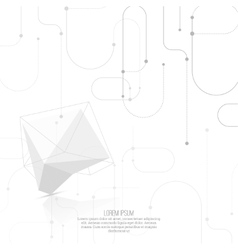 Abstract polygonal geometric shape vector image