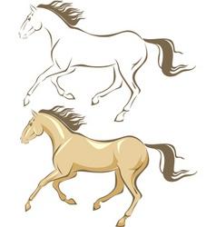 Horse gallop vector