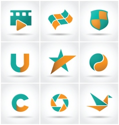Set of colored icons vector