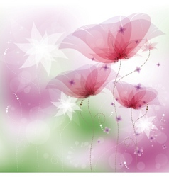 Pink poppies vector