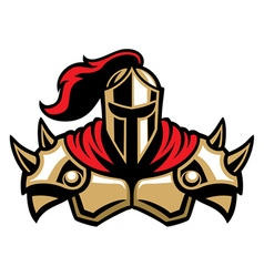 knight warrior mascot vector image