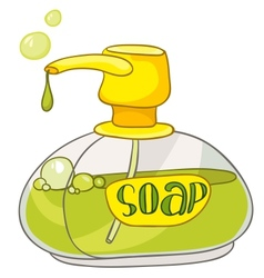 Cartoon home washroom soap vector