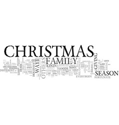 a different kind of christmas text word cloud vector image vector image