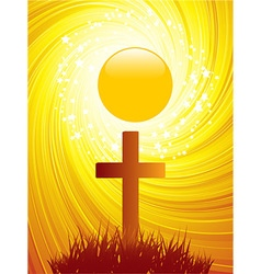 Abstract easter cross background vector