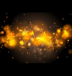 Abstract shiny stars background vector